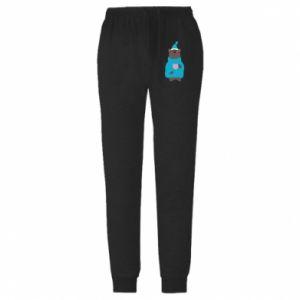 Męskie spodnie lekkie Miś w piżamie