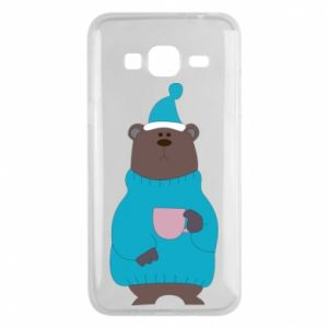 Samsung J3 2016 Case Teddy bear in pajamas