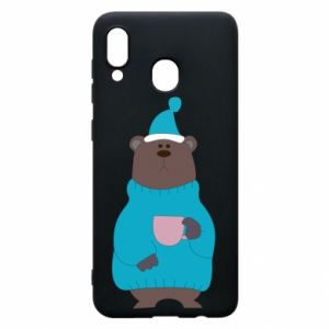 Samsung A30 Case Teddy bear in pajamas
