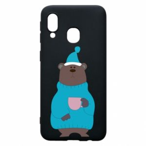 Samsung A40 Case Teddy bear in pajamas