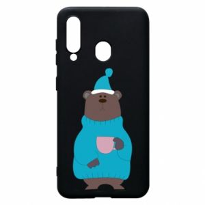 Samsung A60 Case Teddy bear in pajamas