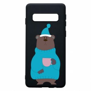 Samsung S10 Case Teddy bear in pajamas