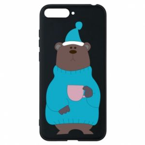 Huawei Y6 2018 Case Teddy bear in pajamas