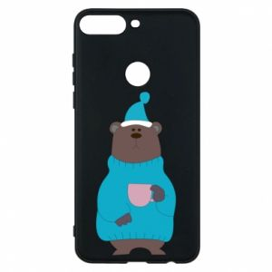 Huawei Y7 Prime 2018 Case Teddy bear in pajamas