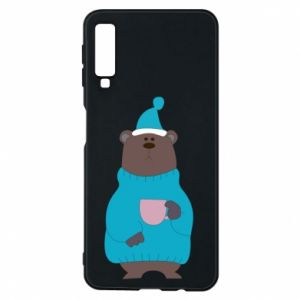 Samsung A7 2018 Case Teddy bear in pajamas