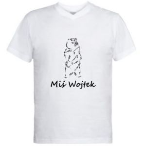 Men's V-neck t-shirt Wojtek the Bear