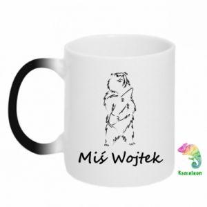 Kubek-kameleon Miś Wojtek