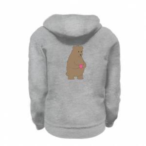 Kid's zipped hoodie % print% Bear