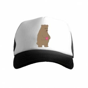 Kid's Trucker Hat Bear
