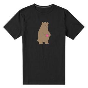 Męska premium koszulka Miś