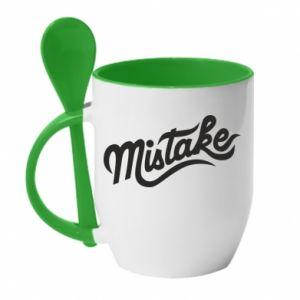 Kubek z ceramiczną łyżeczką Mistake