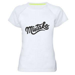 Damska koszulka sportowa Mistake