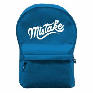 Plecak z przednią kieszenią Mistake