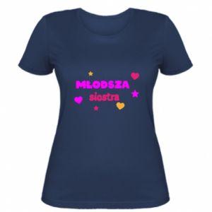 Koszulka damska Młodsza siostra Napis