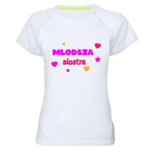 Koszulka sportowa damska Młodsza siostra Napis