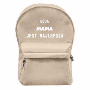 Plecak z przednią kieszenią Moja mama jest najlepsza