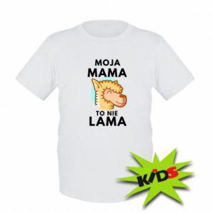 Koszulka dziecięca Moja mama to nie lama