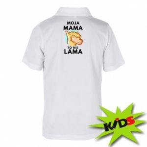 Koszulka polo dziecięca Moja mama to nie lama