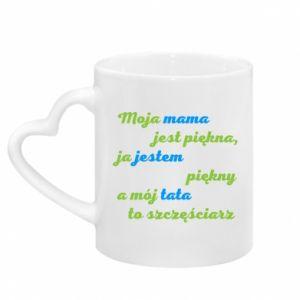 Mug with heart shaped handle Moja mama