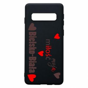 Samsung S10 Case My love is Bielsko-Biala
