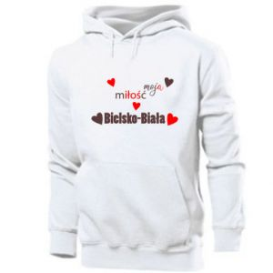Men's hoodie My love is Bielsko-Biala