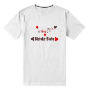 Męska premium koszulka Moja miłość to Bielsko-Biała - PrintSalon