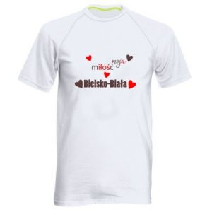 Men's sports t-shirt My love is Bielsko-Biala