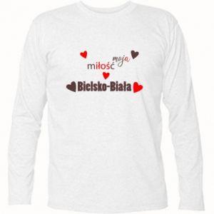 Koszulka z długim rękawem Moja miłość to Bielsko-Biała