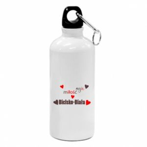 Water bottle My love is Bielsko-Biala