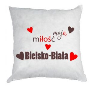 Pillow My love is Bielsko-Biala