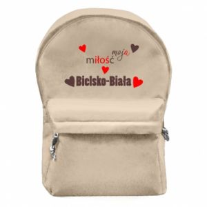 Backpack with front pocket My love is Bielsko-Biala