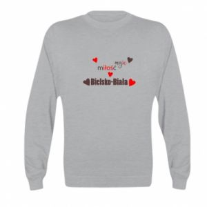 Kid's sweatshirt My love is Bielsko-Biala