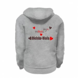 Kid's zipped hoodie % print% My love is Bielsko-Biala