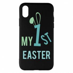 Etui na iPhone X/Xs Moja pierwsza Wielkanoc dla syna
