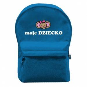 Plecak z przednią kieszenią Moje dziecko