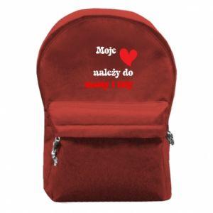 Plecak z przednią kieszenią Moje serce należy do mamy i taty