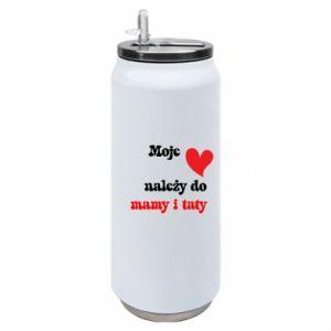 Puszka termiczna Moje serce należy do mamy i taty