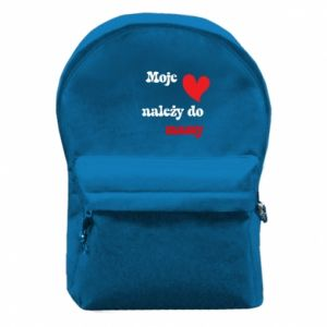 Plecak z przednią kieszenią Moje serce należy do mamy