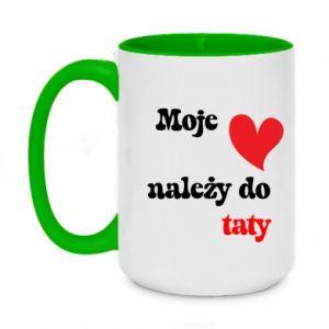 Two-toned mug 450ml My heart belongs to my dad