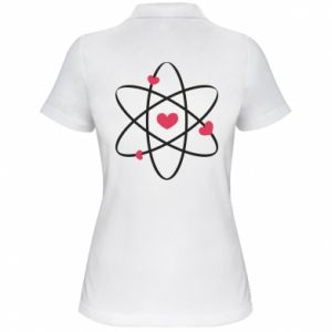 Women's Polo shirt Molecule of hearts