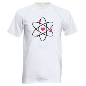 Men's sports t-shirt Molecule of hearts