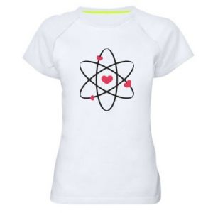 Women's sports t-shirt Molecule of hearts