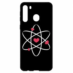 Samsung A21 Case Molecule of hearts