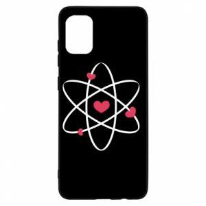 Samsung A31 Case Molecule of hearts
