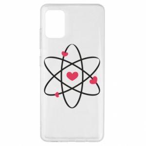 Samsung A51 Case Molecule of hearts