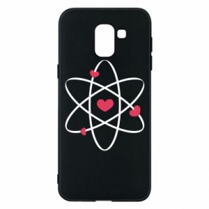 Phone case for Samsung J6 Molecule of hearts