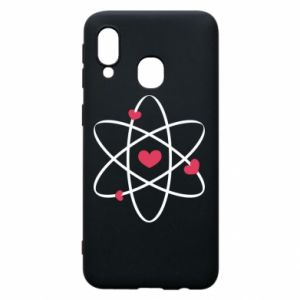 Phone case for Samsung A40 Molecule of hearts