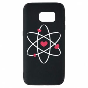 Phone case for Samsung S7 Molecule of hearts