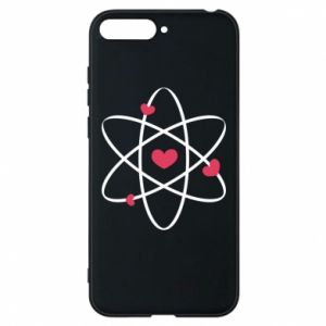 Phone case for Huawei Y6 2018 Molecule of hearts