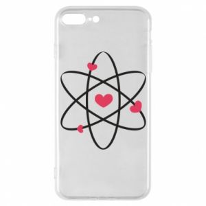 Phone case for iPhone 7 Plus Molecule of hearts